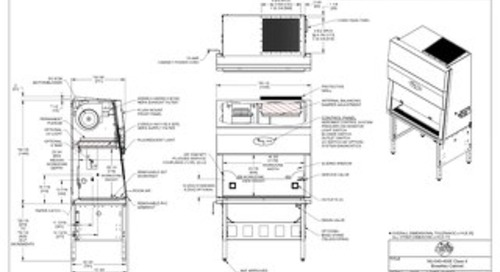 [Drawing] NU-540-400E Class II Microbiological Safety Cabinet