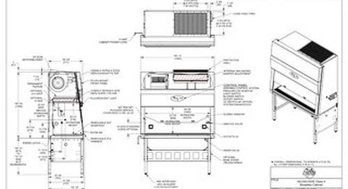 [Drawing] NU-540-500E Class II Microbiological Safety Cabinet