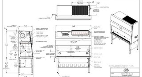 [Drawing] NU-540-600E Class II Microbiological Safety Cabinet