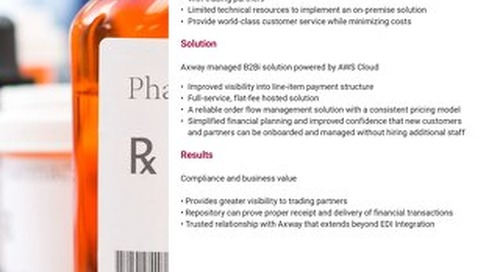 Hosted EDI Management for U.S. Pharmaceuticals Company