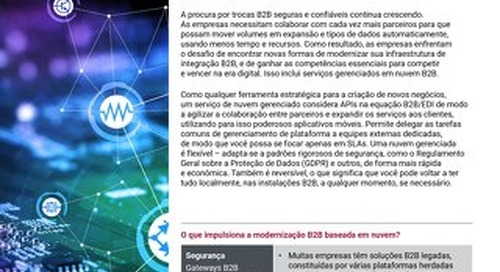 Eleve o seu nível com o Axway B2B  Cloud Managed Services
