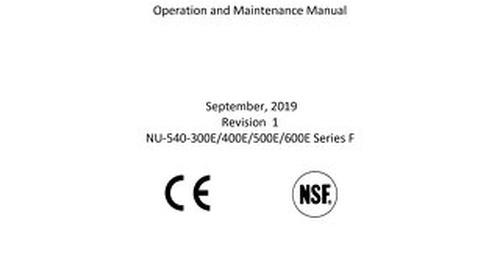 [Manual] LabGard ES NU-540E Series F Class II Microbiological Safety Cabinet (230V)