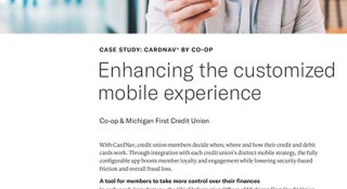 Michigan First CU Enhances Mobile Experience With CardNav API Integration