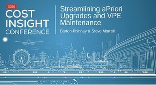 Streamlining aPriori Upgrades and VPE Maintenance