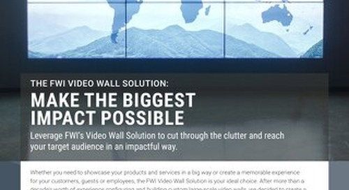 Learn about FWI's Video Wall Solution