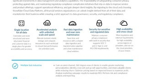 The Cloud Data Platform for Financial Services