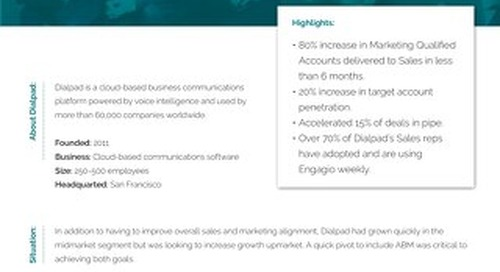 How Dialpad uses Engagio to Scale ABM and Align Sales and Marketing  |   Case Study