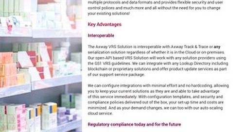 Axway Verification Router Service (VRS) Solution