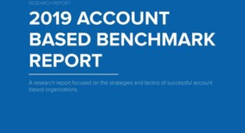 TOPO's 2019 Account Based Benchmark Report