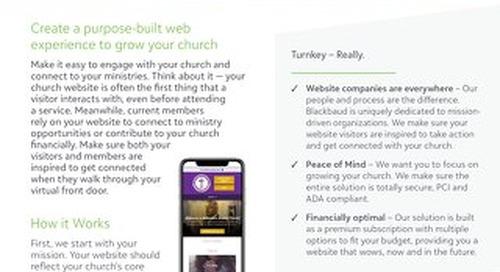 Web Design for Church Datasheet