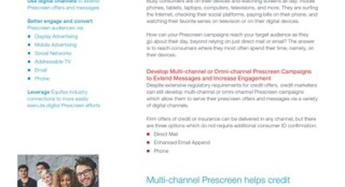 Multi-channel Prescreen - Product Sheet