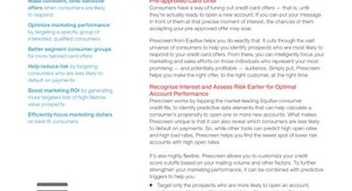 Prescreen - Product Sheet