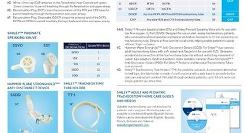 SHILEY™ TRACHEOSTOMY PRODUCTS QUICK REFERENCE GUIDE