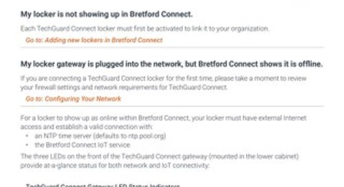 FAQs for TechGuard Connect and Bretford Connect