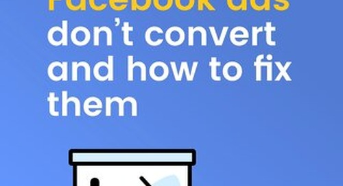 3 Reasons Your Facebook Ads Aren't Converting