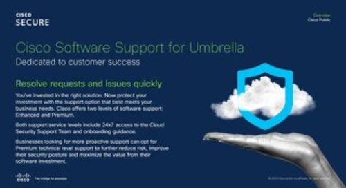 Cisco Umbrella New Package Customer Support Options