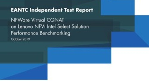 NFWare Virtual CGNAT on Lenovo NFVi Intel Select Solution Performance Benchmarking