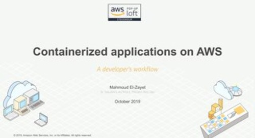 Containerized applications - developer workflow