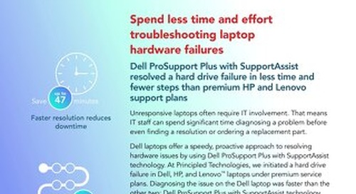 Principled Technologies Report: Dell ProSupport Plus with SupportAssist technology