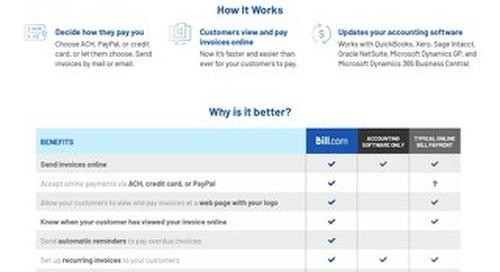 Bill.com AR Overview Page