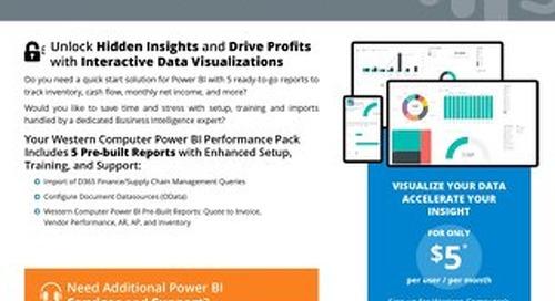 Power BI Content Pack for Dynamics 365 Finance/SCM