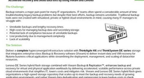 Backup & Archive: Lenovo ThinkAgile HX, ThinkSystem DE and Veeam