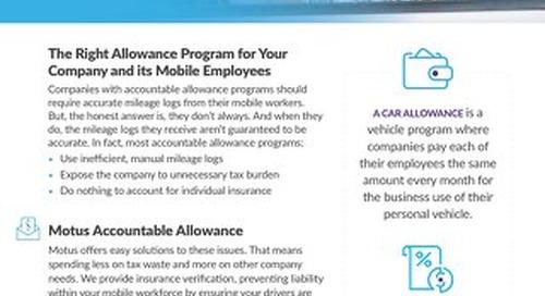 Motus Reimburse: Accountable Allowance