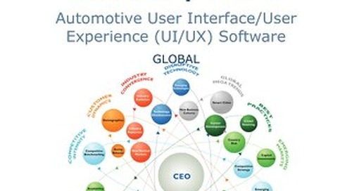 White paper: Customer Value Leadership Award for Automotive User Interface/User Experience Software