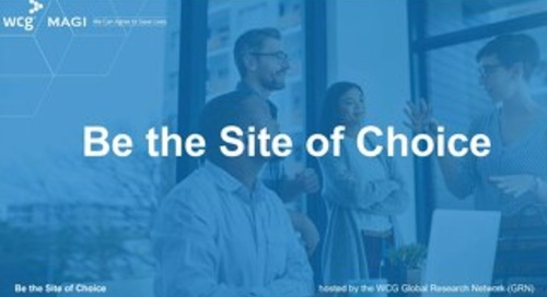 Be the Site of Choice - Welcome