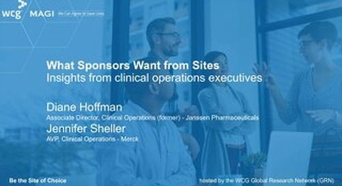 What Sponsors Want from Sites