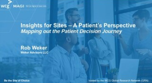 Insights for Sites – A Patient's Perspective