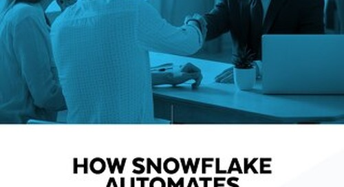 How Snowflake Automates Performance in a Modern Cloud Data Warehouse