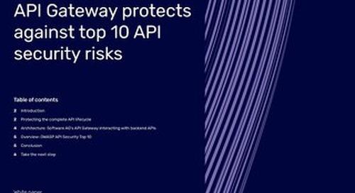 How webMethods API Gateway protects against top 10 API security risks