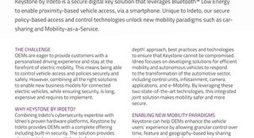 Datasheet: Keystone for Electric Vehicles