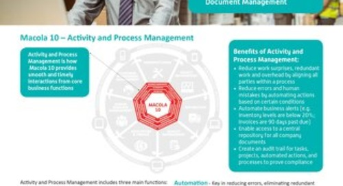 Macola: Activity Process