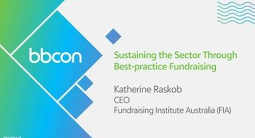 Sustaining the Sector Through Best-practice Fundraising