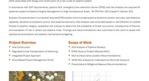 Pipeline Integrity HCA, EFRD and Risk Analysis