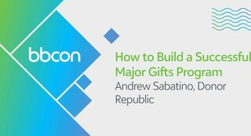 How to Build a Successful Major Gifts Program