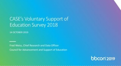 CASE's Voluntary Support of Education Survey 2018
