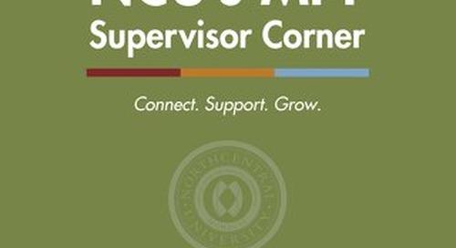 MFT Supervisor Corner Issue 4