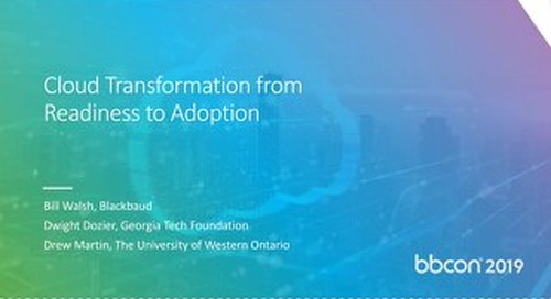 Cloud Transformation from Readiness to Adoption