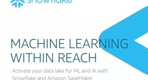 Machine Learning Within Reach: Activate your data lake for ML and AI with Snowflake and Amazon SageMaker