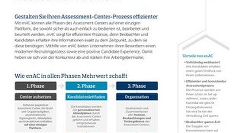 Papierlose Assessment Center Infoflyer