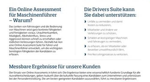 Auswahl von Maschinenführern Infoflyer