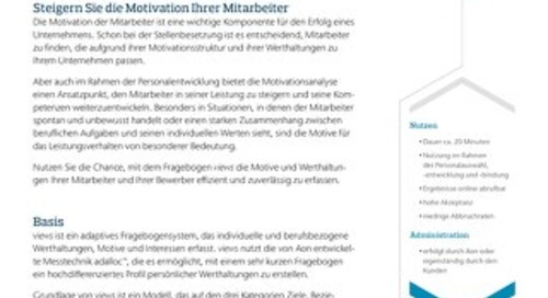 Motivationsfragebogen Infoflyer