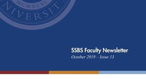 SSBS Faculty Newsletter Issue 13 Oct 2019