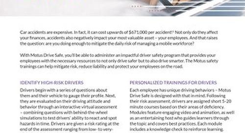 Motus Drive Safe: Assessments & Trainings