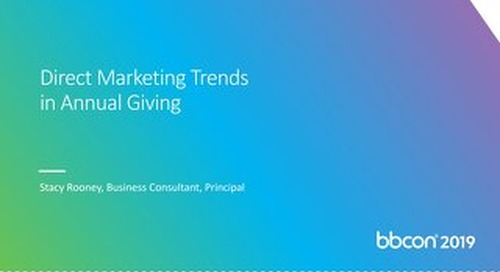 Direct Marketing Trends in Annual Giving FINAL