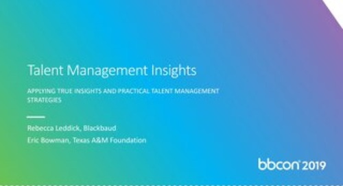 Talent Management Insights