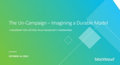 The UnCampaign: Imagining a Durable Model